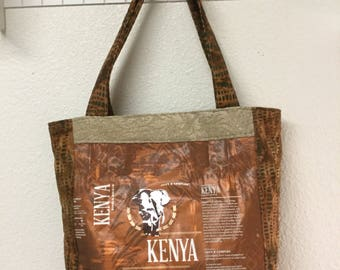 Recycled Starbucks coffee bag purse