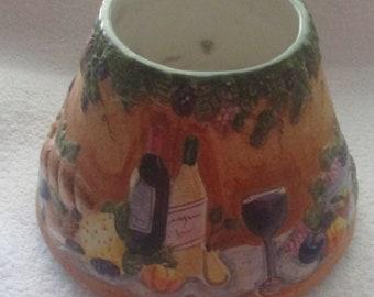 Vintage Yankee Candle Ceramic Shade Wine