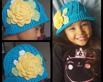 Spring, Cloche, Spiral, Flower hat