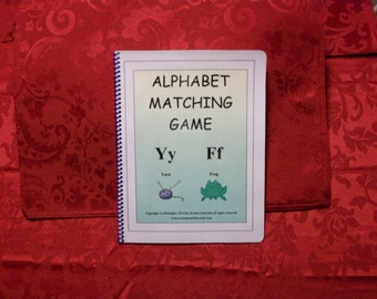 Alphabet Matching Learning Autism Pecs File Folder Game