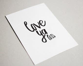 Love Ya Lots | Love Card - Anniversary - Made for Love - Greeting Card - Just Because - Love You - Greeting Cards