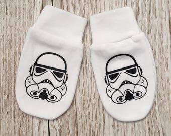 Star Wars 'stormtrooper'  Inspired Baby Scratch Mitts