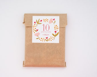 Surprise Pack - 10 Greeting Cards - Variety Pack - Birthday Cards - Thank You Cards - Friendship
