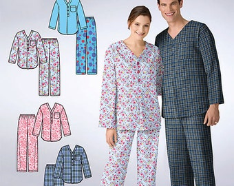 OOP It's So Easy Misses, Mens or Teens Sleepwear Top and Pants Loungewear Simplicity 2328 Size XS- XL Uncut