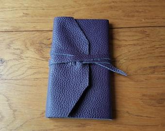 Plum leather notebook