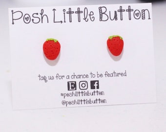 Strawberry necklaces or earrings