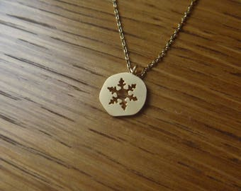 Winter snowflake gold necklace