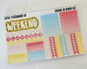 Vertical Planner Sticker Kit for use with Erin Condren LifePlanner- Spring in Bloom Kit