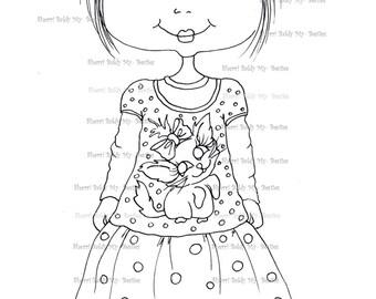 INSTANT DOWNLOAD Digital Digi Stamps Big Eye Big Head Dolls Digi  My - Besties  IMG932 By Sherri Baldy