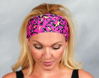 Running Headband Workout Headband Fitness Headband Pink Headband Gym Gear Boho Headband Fashion Headband Women Head Wrap Turban Headband