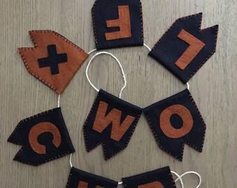 WOLF x CUB Felt Banner, Felt Pennant