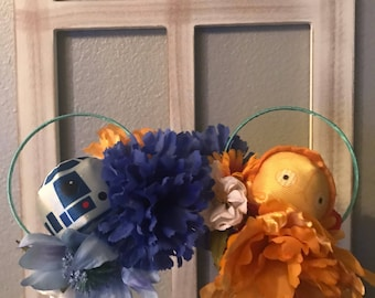 The Droids You Are Looking For Floral Mouse Ears