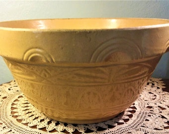 Vintage Large Yellow Ware Bowl