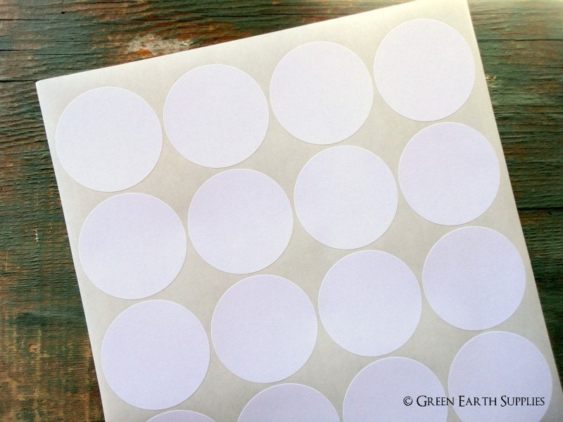 Round White Stickers