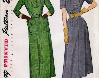 Bust 32-FACTORY FOLDED 1950's Misses' Dress  Simplicity 3010  Size 14