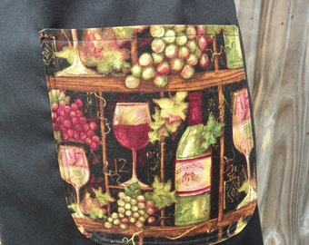 Women's Butcher Style Apron - Wine Shelves