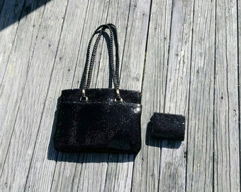 Vintage AE mesh purse and wallet set