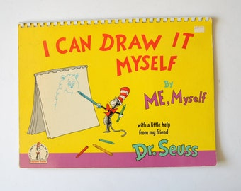 Vintage Dr. Seuss I Can Draw It Myself Book 1970 Rare Find Large Format