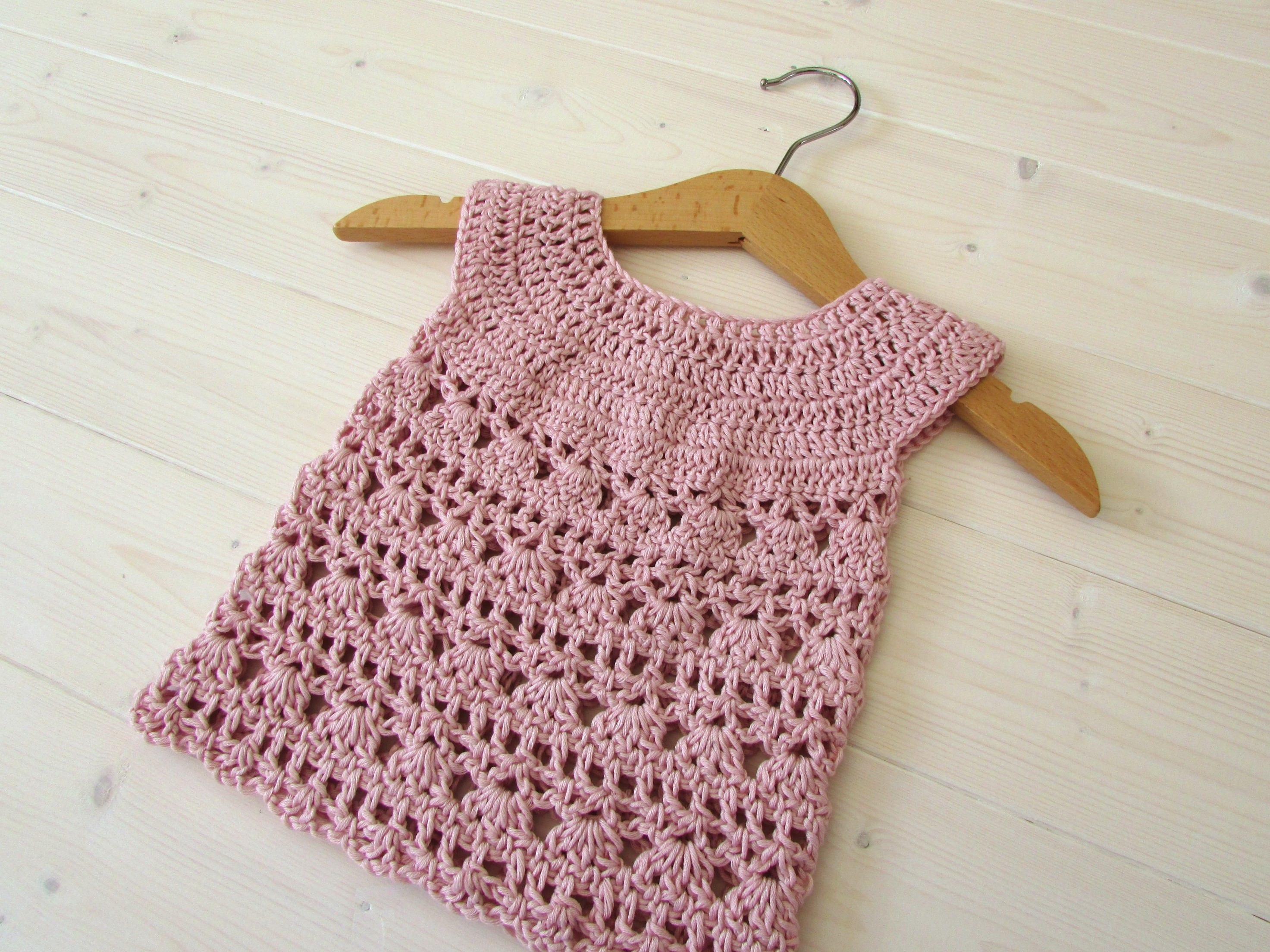 Crochet Lace Baby Dress Written Pattern