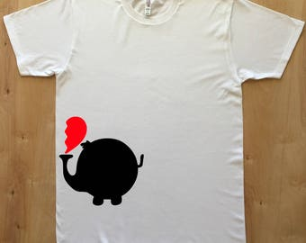 Elephant cute matching shirts for couples