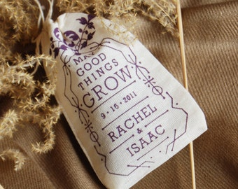 Wedding Favors Eco Friendly Seed Bombs Outdoor Ceremony Custom Screenprint