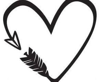 Arrow Heart - 6 inch
