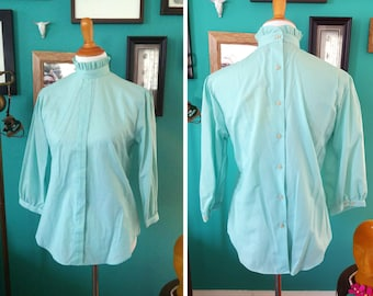 Vintage New with Tags Turquoise Top M