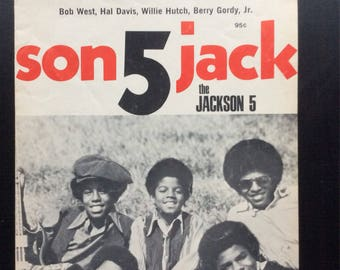 Jackson 5 I'll Be There Sheet Music  Rare Find