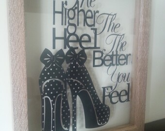 the higher the heel paper cut template PERSONAL USE ONLY