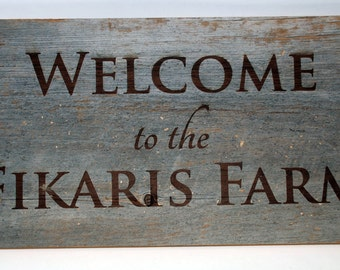 Barn Board Custom Engraved Wooden Signs All Engraving included Barnboard Barn Board Barnwood