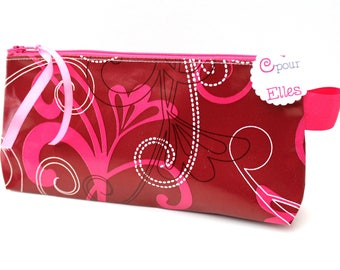 Clutch women printed red and pink