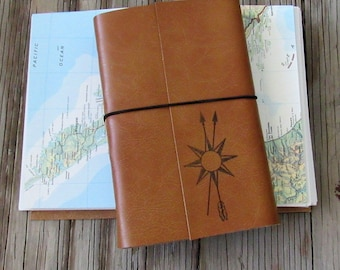 True North travel journal with maps, larger travel journal by tremundo