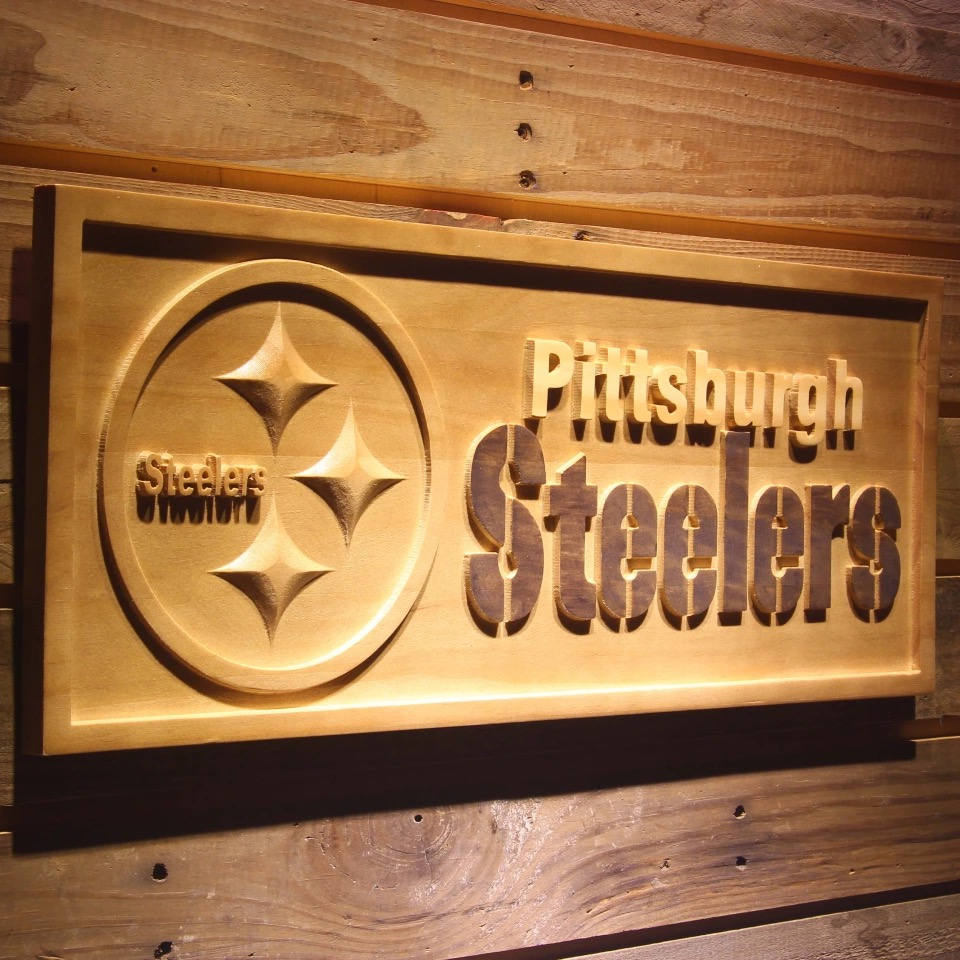 Pittsburgh Steelers Wooden sign wall decor