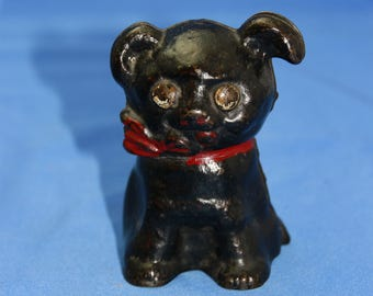 1914 Hubley puppy cast iron still bank