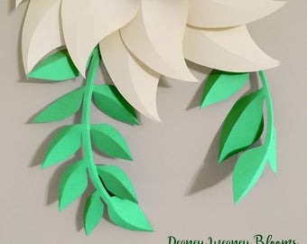 SVG and PDF Printable Digital Drop Leaves Template #6- 2 kinds of leaf. 2 leaves in 1 letter size paper, Cricut and print Ready Adjustable