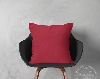 solid red pillow cover red throw pillow cover decorative pillow case red cotton cushion cover accent pillow farmhouse pillow ANY SIZES