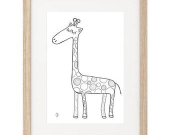Giraffe Hand Painted