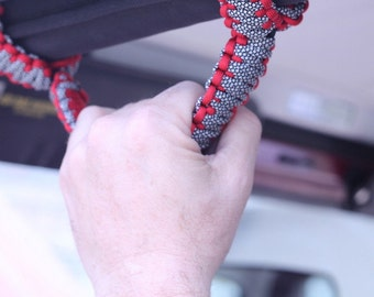 Paracord Jeep Wrangler Grab Handles, Roll Bar Handles, Roll Bar Grips, set of two