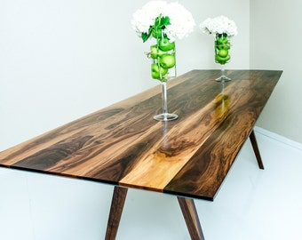 Dining Table, Mid Century Modern Dining Table, Modern Dining Table, Walnut  Dining