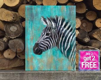 Zebra Print, Zebra Art, Zebra Oil Painting, Animals Wall Art, Zebra Decor, Safari Print, animal print, animal oil painting, zebra printable