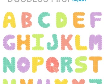 Baby Stitched Alphabet for Scrapbooking Card Making Cupcake Toppers Paper Crafts