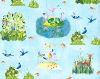 Forest Wonder By Masha D'Yans in blue, 1/2 yard