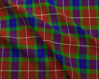 Traditional Tartan Fabric - Fraser Plaid By Willowlanetextiles - Red Blue and Green Tartan Cotton Fabric By The Yard With Spoonflower