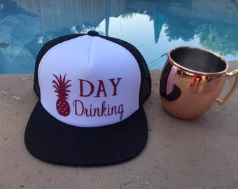 Day Drinking Trucker Hat |  Trucker Hat |  Summer Hat |  Day Drinking | Vacation Hat | Mom Life Hat | Mermaid Hat | Hawaii Hat