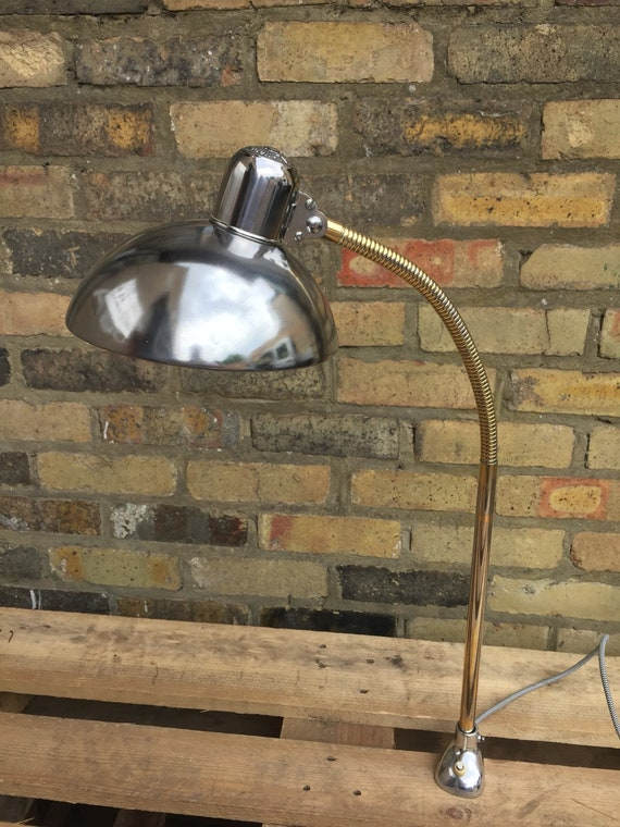 Vintage 1950s BAUHAUS Kaiser Idell 6740 Table Clamp Task Lamp By Christian Dell