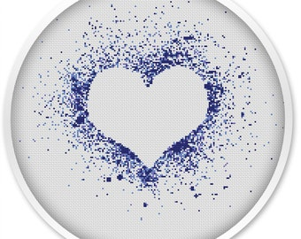 IINSTANT DOWNLOAD, Free shipping, Cross Stitch PDF, Cross stitch pattern love,  Love, Heart.#048