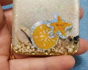 Handmade resin magnet