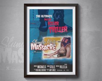Horror Art Print, Slumber Party Massacre Poster Print, Horror, Horror Geek, Slasher Horror, 80'S Horror, Movie Art, Poster Art, Driller