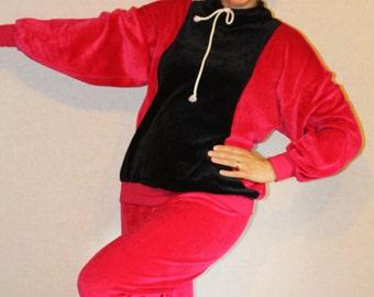 Soviet tracksuit Soviet vintage sportswear Tracksuit bottoms jacket two piece Vintage fitness running clothing Vintage womens tracksuit Pink