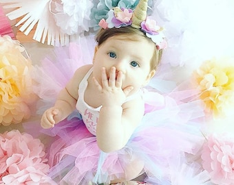 Unicorn 1st Birthday Outfit - Unicorn Birthday - First Birthday Girl - Unicorn Costume